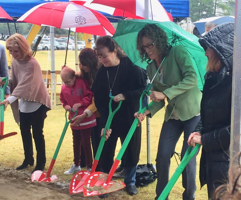 Wendy Radtke helps break ground at Le Bonheur Green